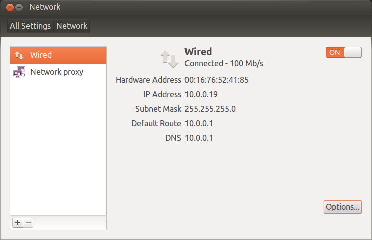 how to find system ip address in ubuntu