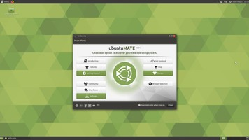 Ubuntu MATE welcome screen